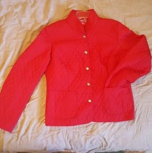 Kim Rogers Signature petite red quilted jacket